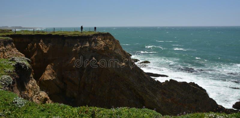 点竞技场光,加利福尼亚美国太平洋海岸印象  免版税库存图片