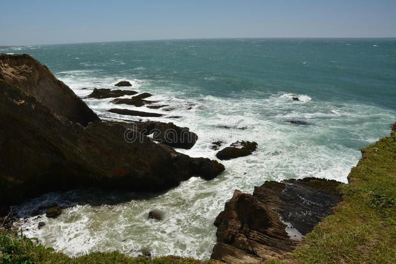 点竞技场光,加利福尼亚美国太平洋海岸印象  库存照片