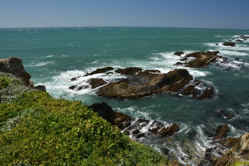 点竞技场光,加利福尼亚美国太平洋海岸印象  免版税库存照片