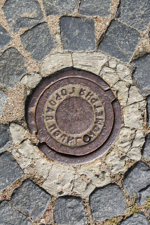 点都市polygonometry,大地测量学的标志 免版税图库摄影