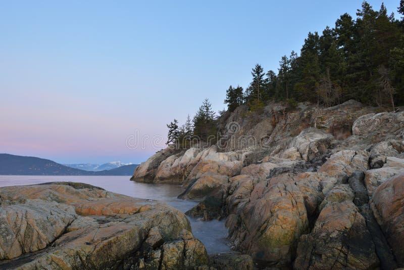 点阿特金森灯塔公园西方海滩 免版税库存照片