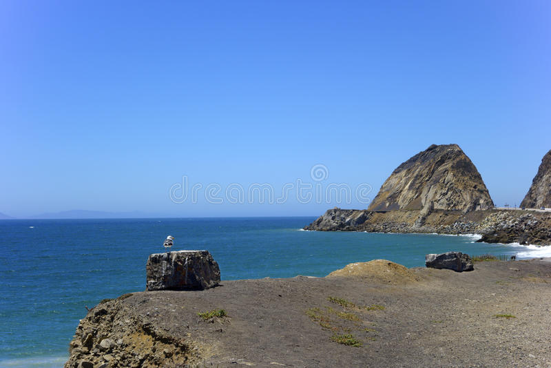 点Mugu和海峡群岛,加州 图库摄影