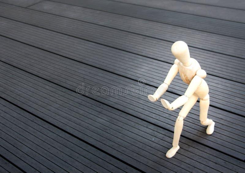 锻炼概念的木式样姿势Tai ji 库存照片