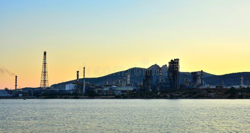 炼油厂工厂 库存图片