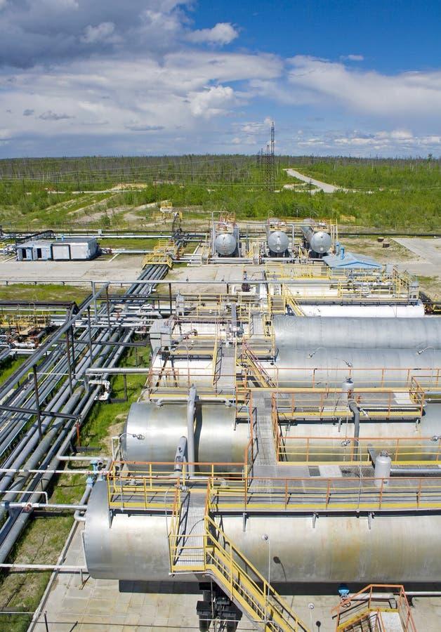 炼油厂植物 库存照片