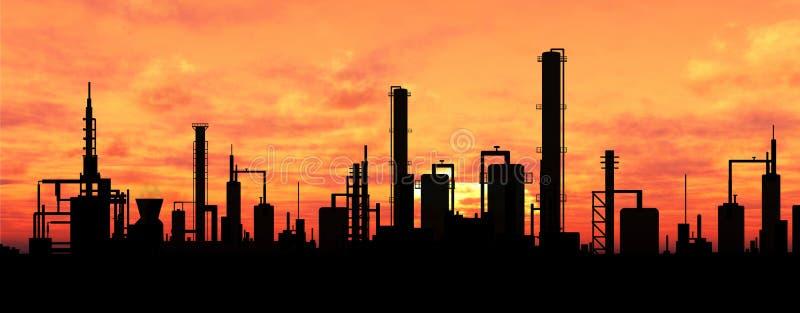 炼油厂 向量例证