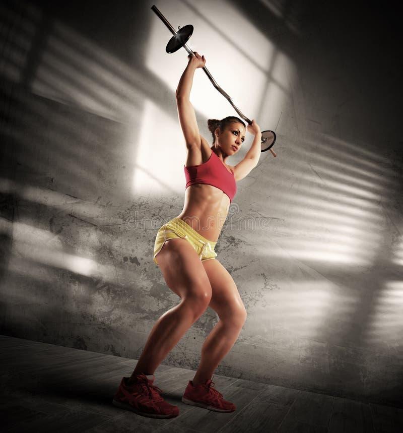 锻炼运动妇女 免版税库存照片