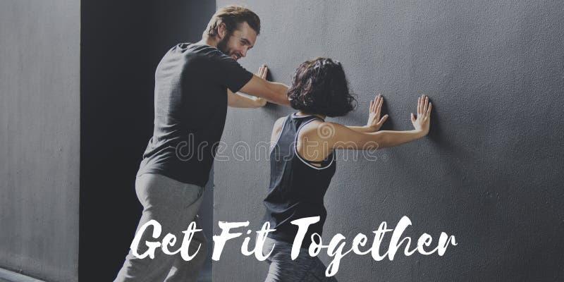 锻炼锻炼健康体育概念 免版税库存图片