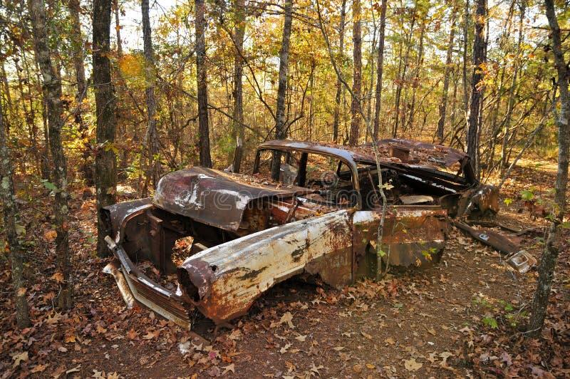 破烂物汽车在上帝峡谷 库存图片
