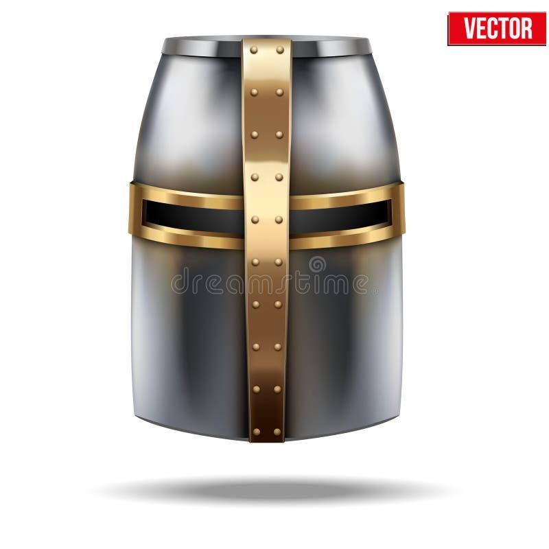 烈士骑士的盔甲 也corel凹道例证向量 皇族释放例证