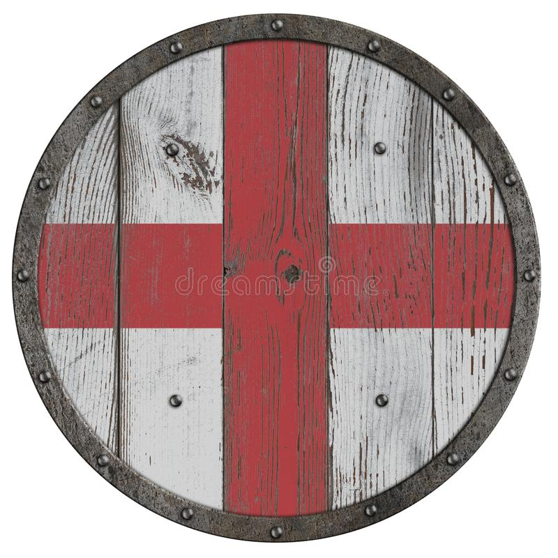 烈士3d例证老中世纪木盾  库存例证