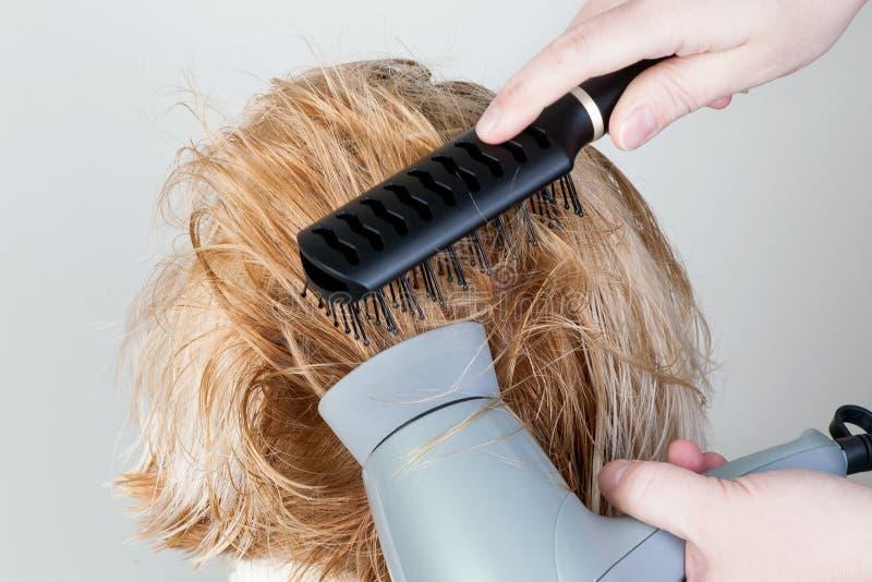 烘干和头发称呼 库存图片