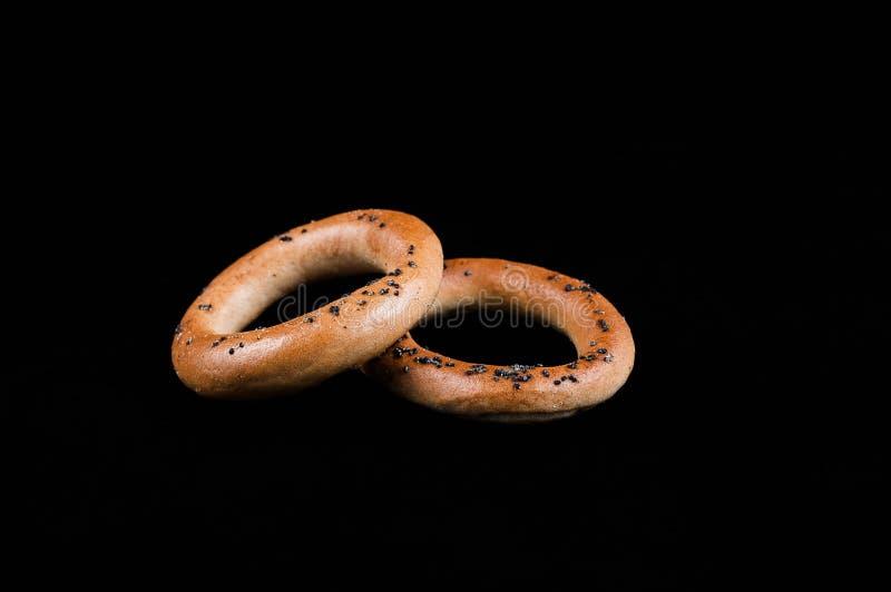 在工休,咖啡面包卷之间的快的快餐 免版税库存照片