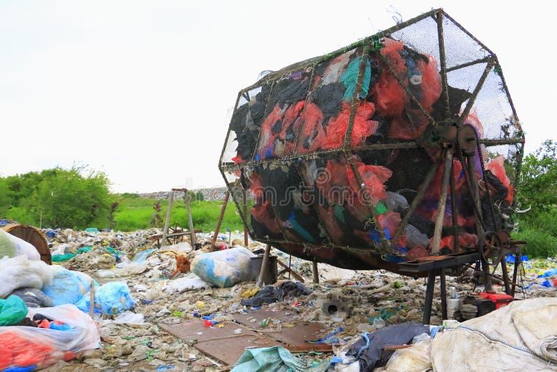 烘干机回收使用的引擎 图库摄影