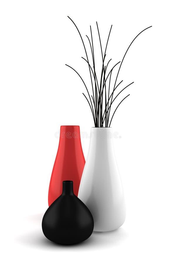 烘干查出的花瓶白色木头 皇族释放例证