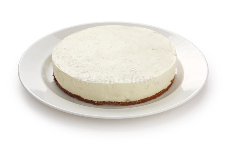 烘烤乳酪蛋糕没有 库存照片