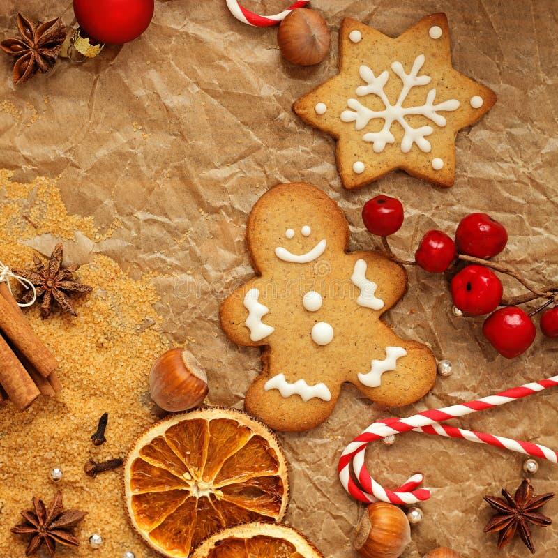 烘烤圣诞节曲奇饼重点月亮塑造星形 图库摄影