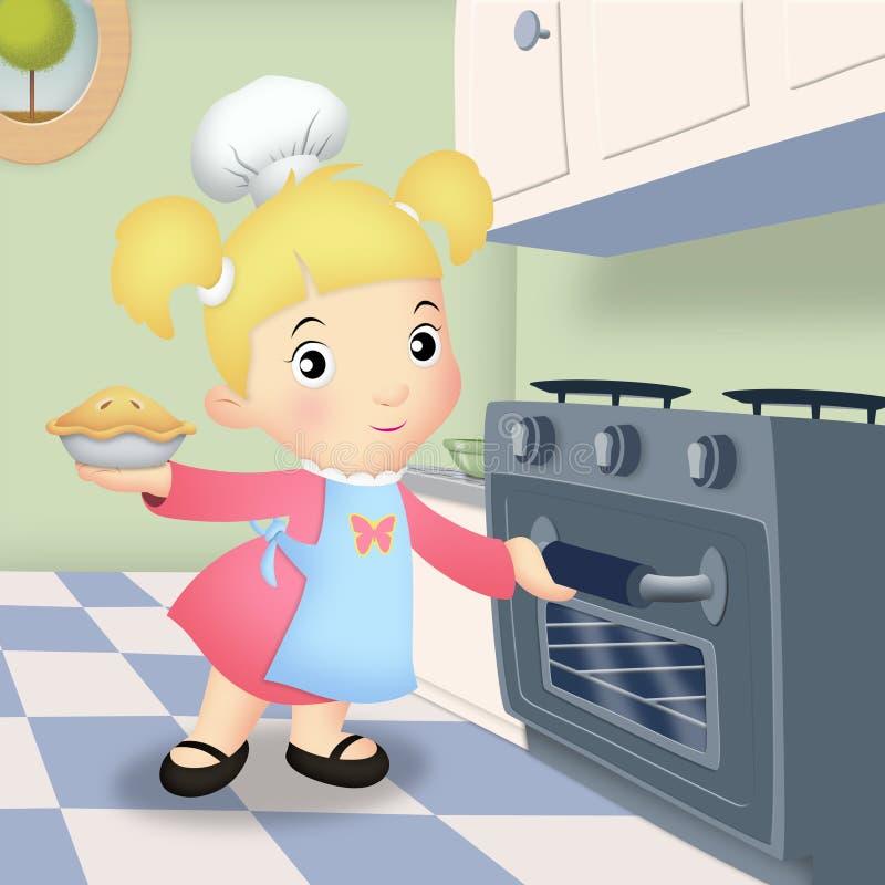 烘烤女孩 向量例证