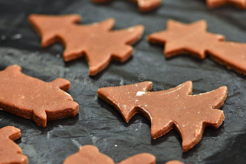 烘烤家做了圣诞节曲奇饼 古典捷克传统 概念为冬天季节、食物和圣诞节假日 库存照片