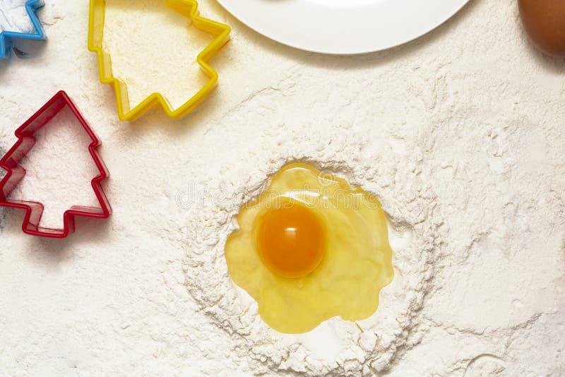 烘烤的自创饼干新鲜的自然成份 库存图片