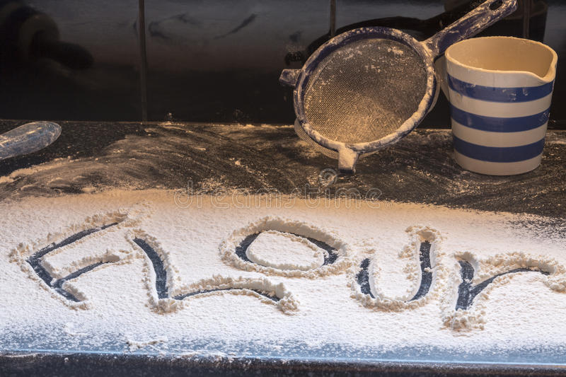烘烤的面粉 免版税图库摄影