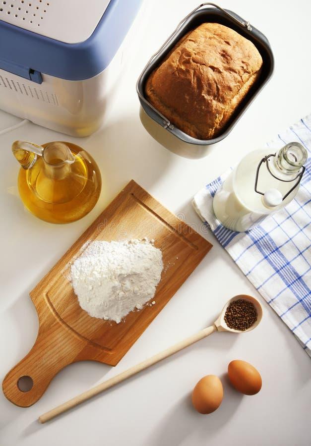 烘烤面包成份 库存照片