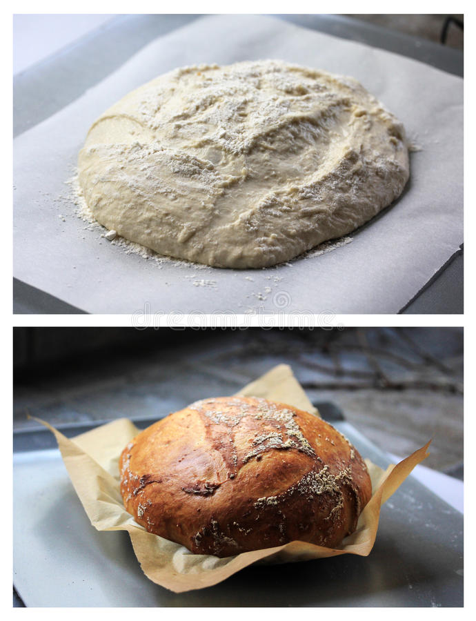 烘烤面包 图库摄影