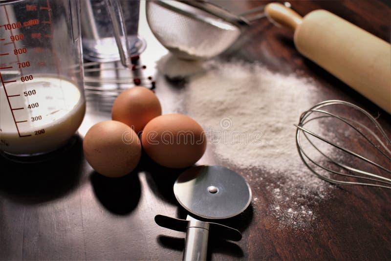 烘烤,面包店,食物,厨房的概念图象 图库摄影