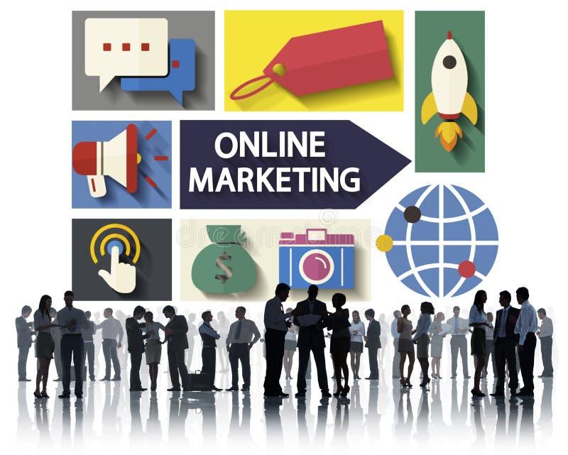 烙记全球性通信的网上营销分析概念 向量例证
