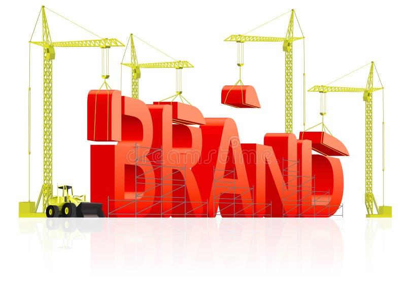 烙记大厦命名产品商标 向量例证