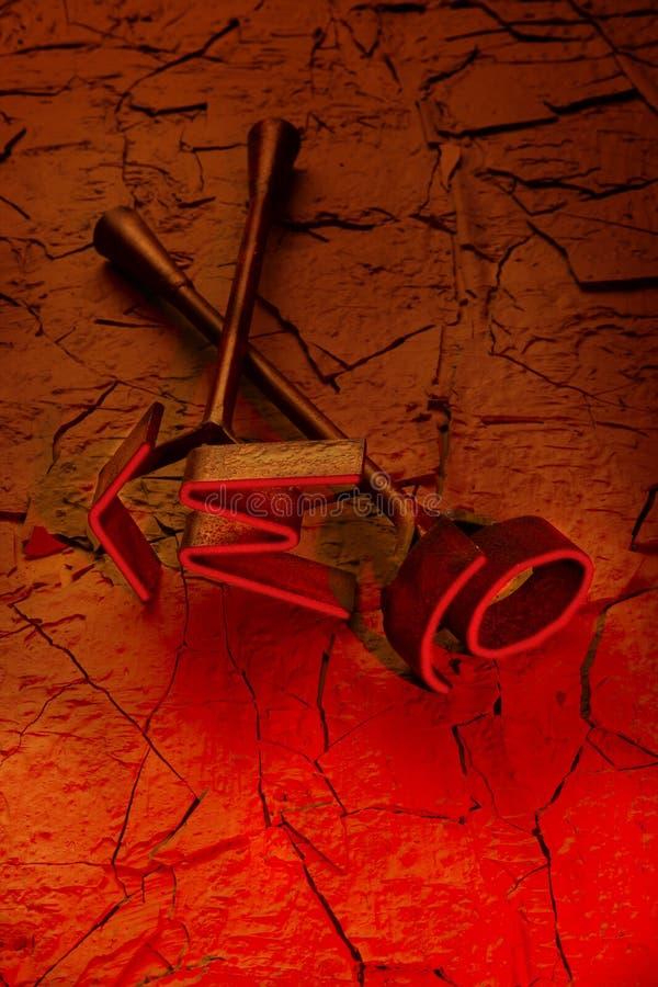 烙记的热铁红色 图库摄影