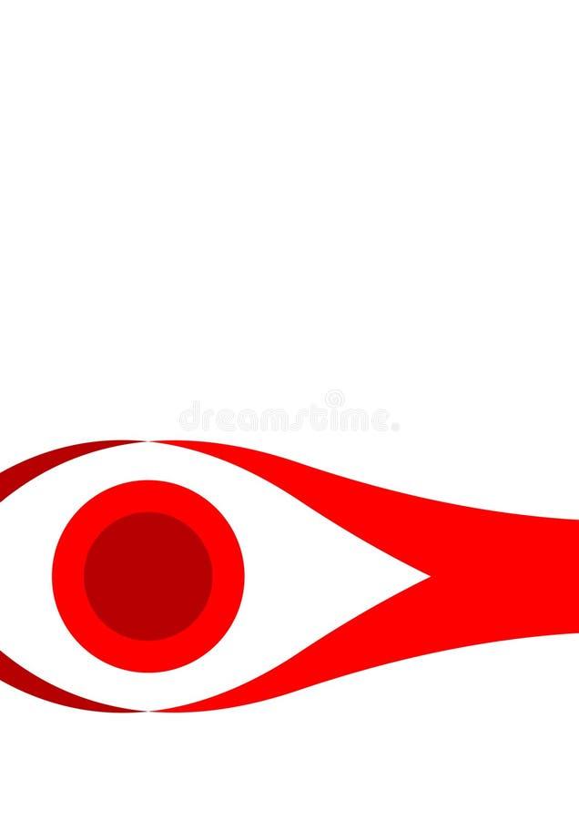 烙记的眼睛图象喜欢 免版税图库摄影