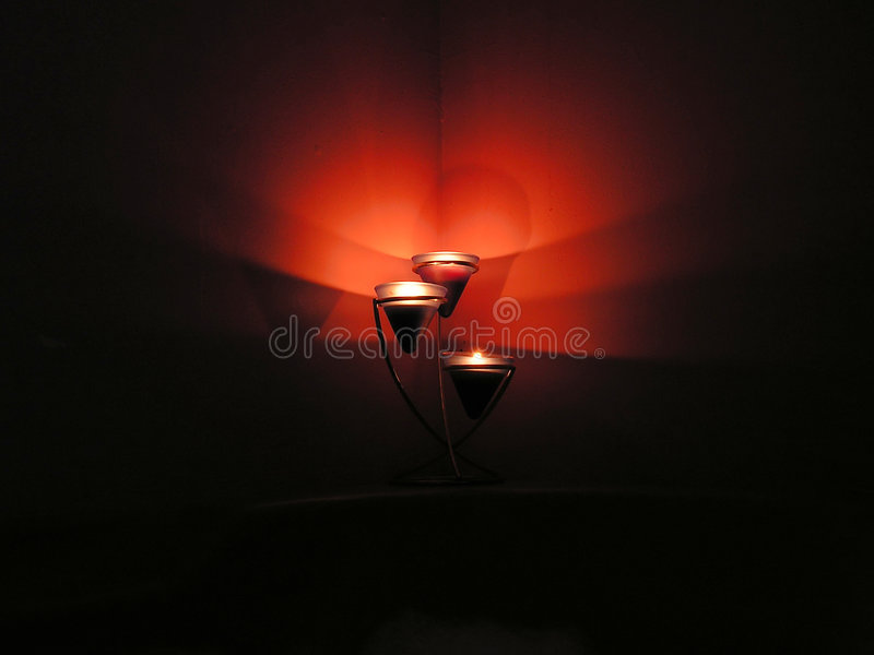 烛光发光 库存照片