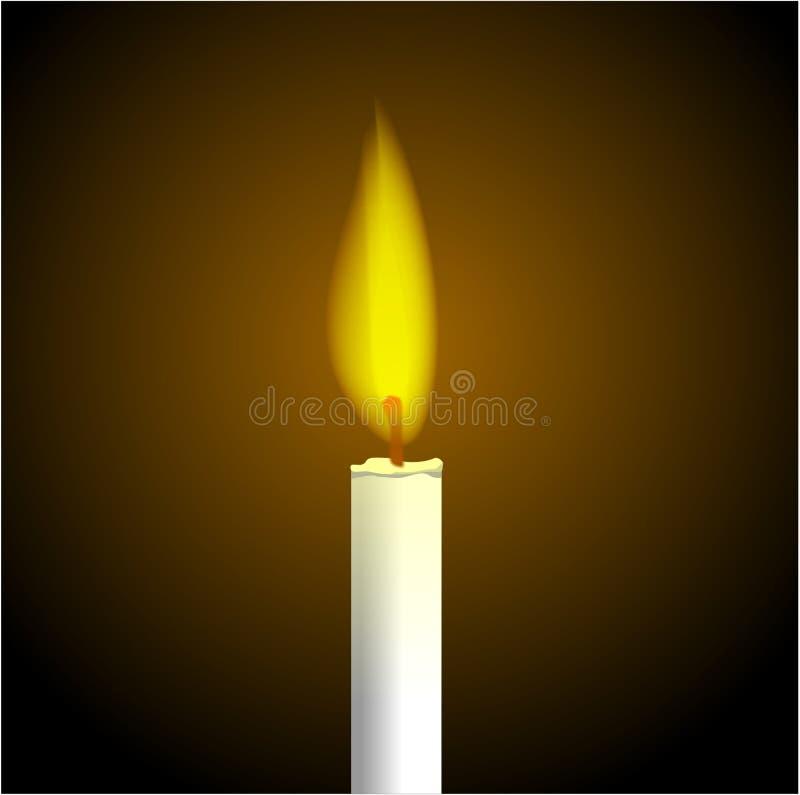 烛光焰 库存例证
