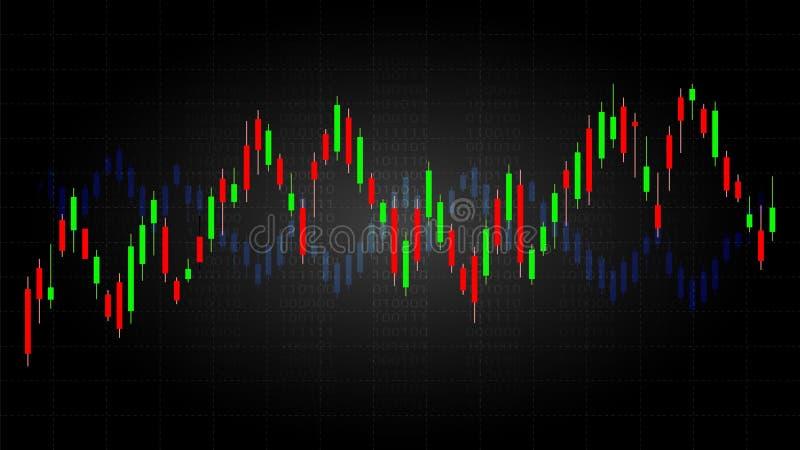 烛台样式是财政图样式  库存例证