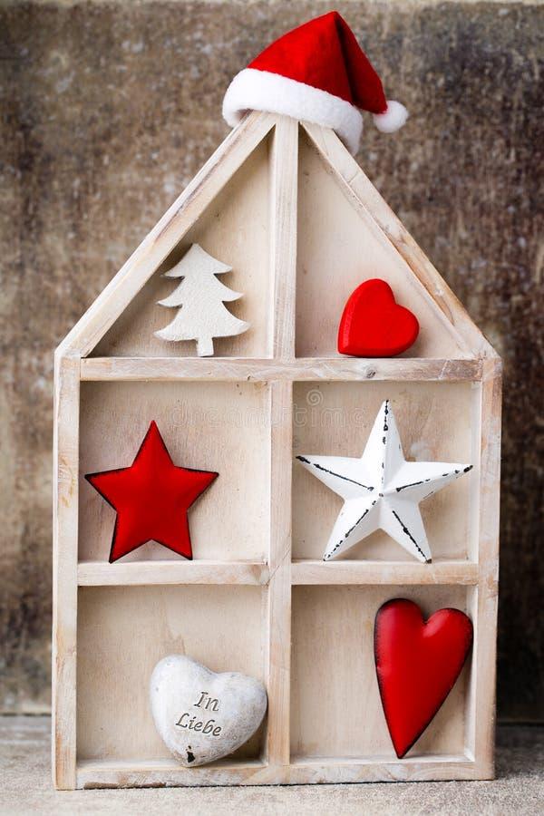 烛台 圣诞节灯笼 Cristmas装饰,招呼加州 免版税库存图片