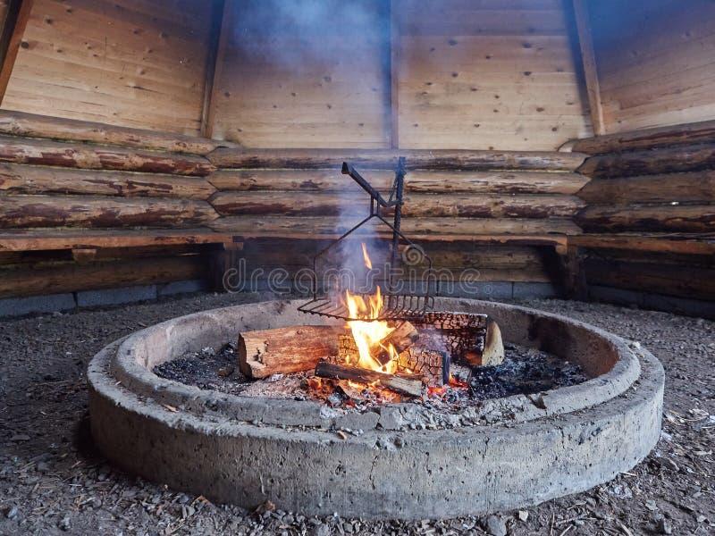 烟和壁炉 库存照片