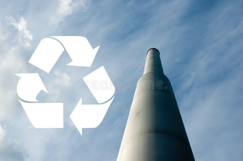 烟囱回收符号 免版税库存照片