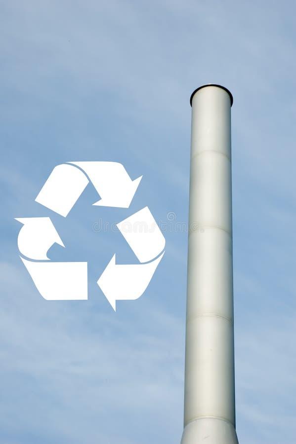 烟囱回收符号 库存图片