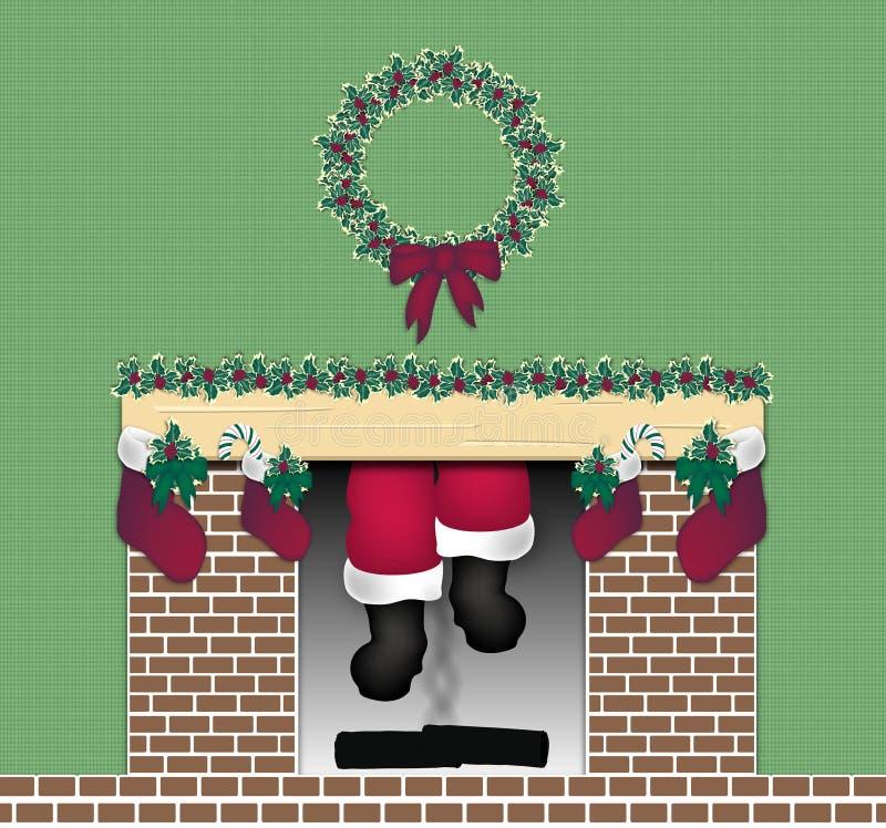 烟囱圣诞老人 皇族释放例证