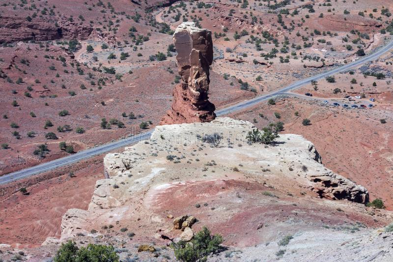 烟囱岩层犹他沙漠圆顶礁国家公园 图库摄影