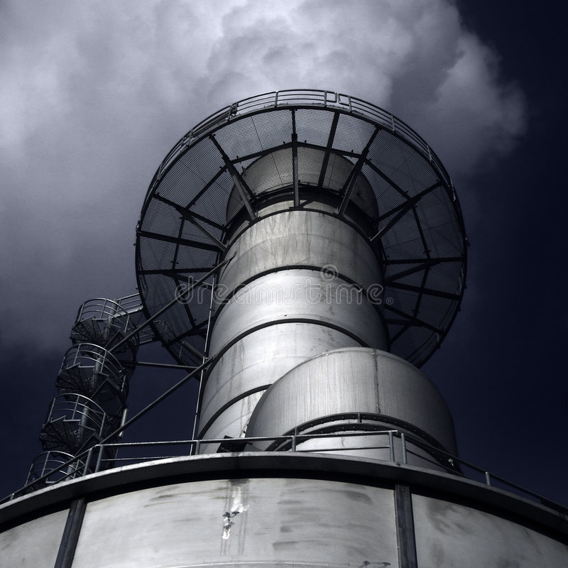 烟囱工厂 免版税库存照片