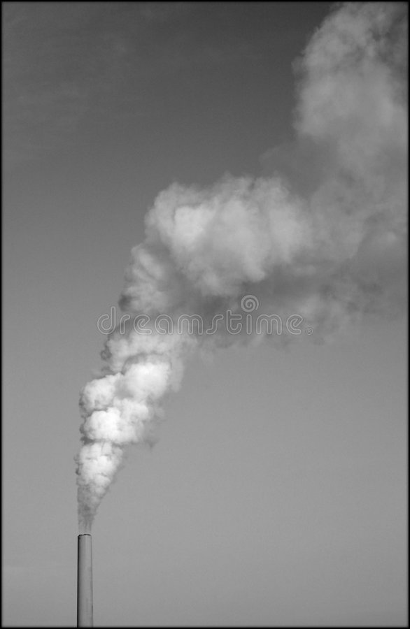 烟囱污染 库存图片