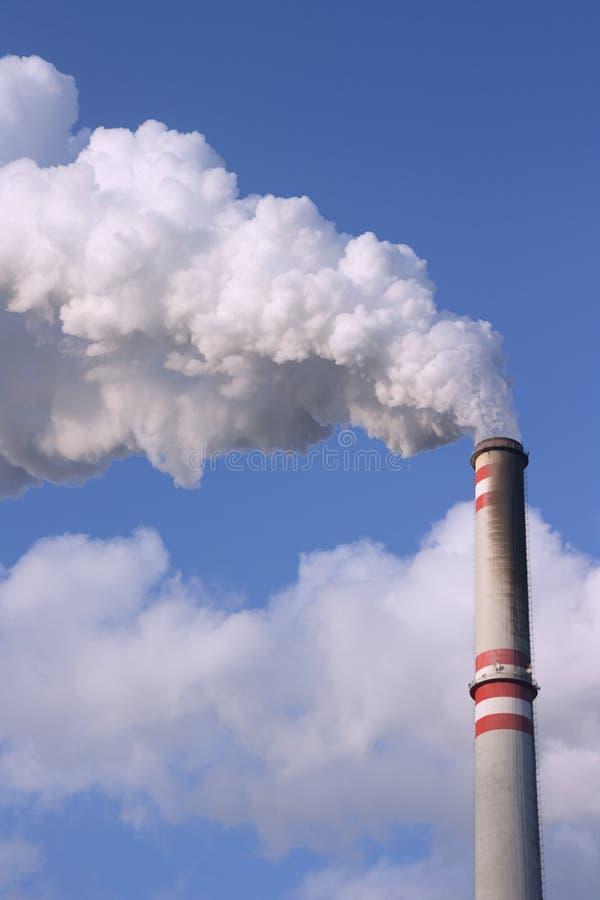 烟囱采煤工厂次幂 图库摄影