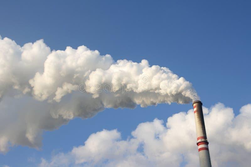 烟囱采煤工厂次幂 库存照片