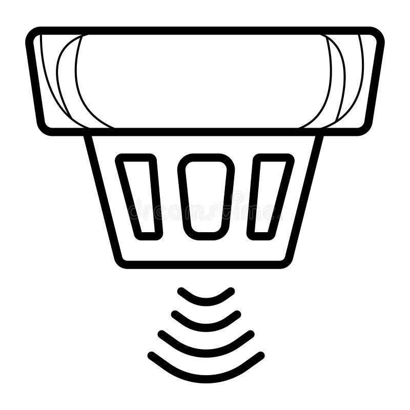 烟探测器系统传染媒介 库存例证
