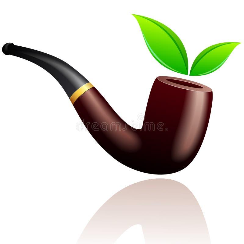 烟斗烟向量 库存例证