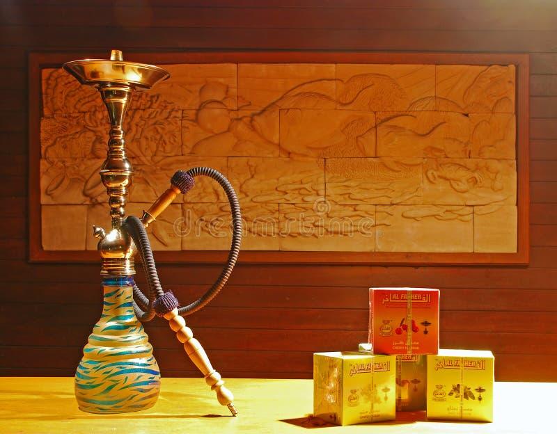 水烟筒可利用为与Al Fakher的使用 免版税库存照片