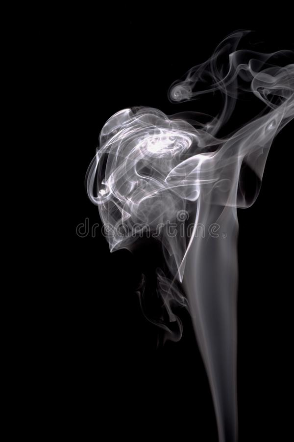 烟纹理黑背景图表资源白色烟 向量例证