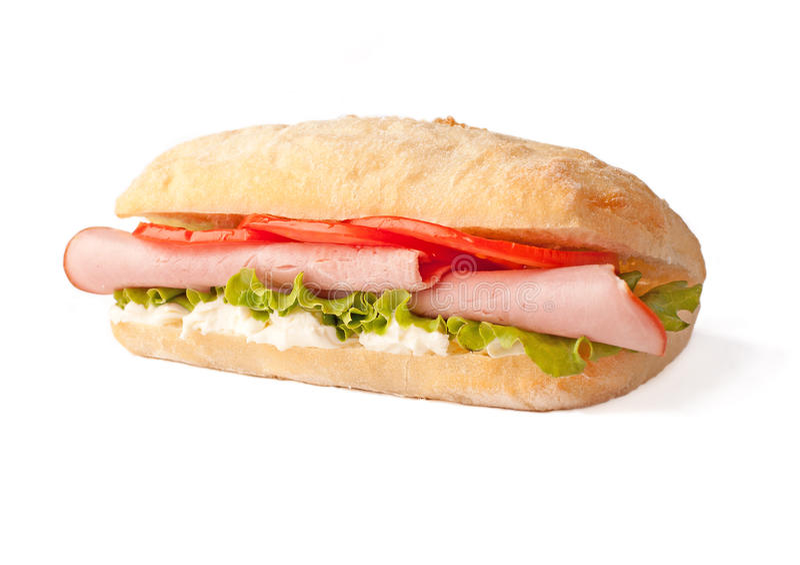 烟肉三明治 图库摄影